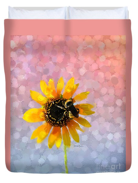 Duvet Cover featuring the photograph The Bee's Knees by Betty LaRue