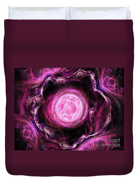 Duvet Cover featuring the digital art The Beginning by Michal Dunaj