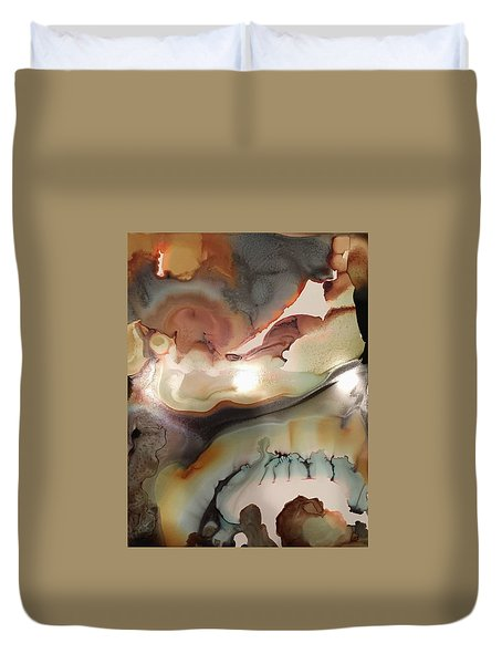 The Beginning Of Time Duvet Cover