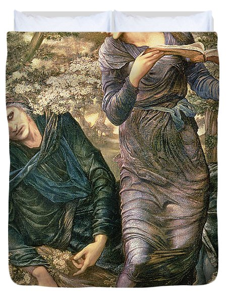 The Beguiling Of Merlin Duvet Cover by Sir Edward Burne-Jones
