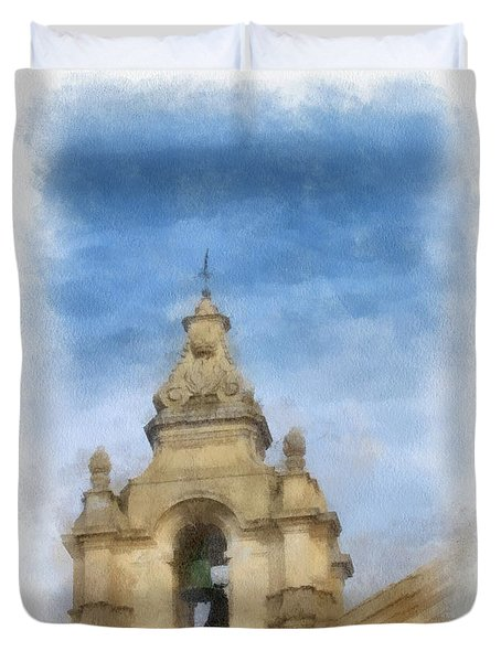 The Bell Tower By John Springfield Duvet Cover