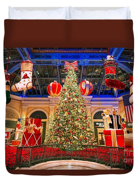 The Bellagio Christmas Tree 2015 Duvet Cover