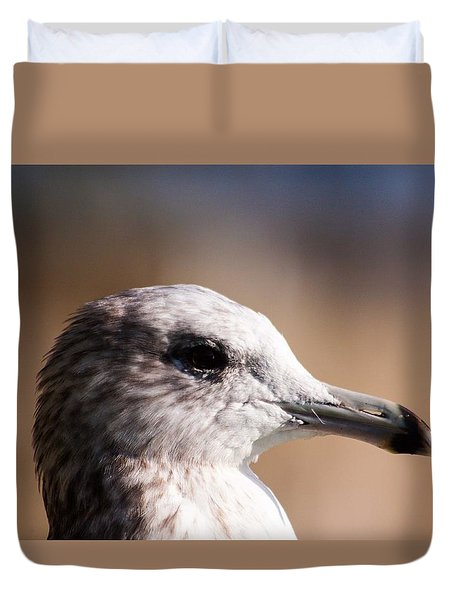 Duvet Cover featuring the photograph The Best Side Of The Gull by Lora Lee Chapman