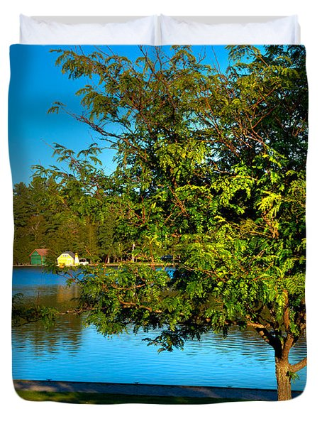 The Best Spot On Old Forge Pond Duvet Cover
