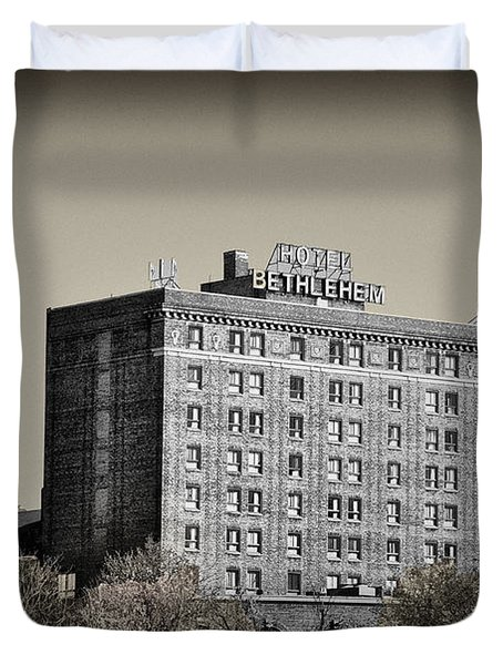 The Bethlehem Hotel Duvet Cover by Bill Cannon