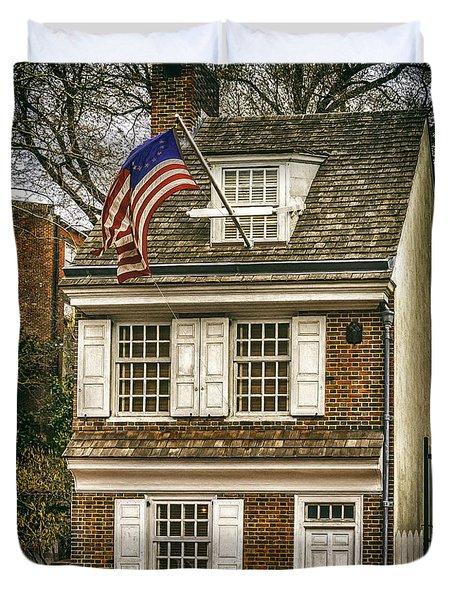 The Betsy Ross House Duvet Cover
