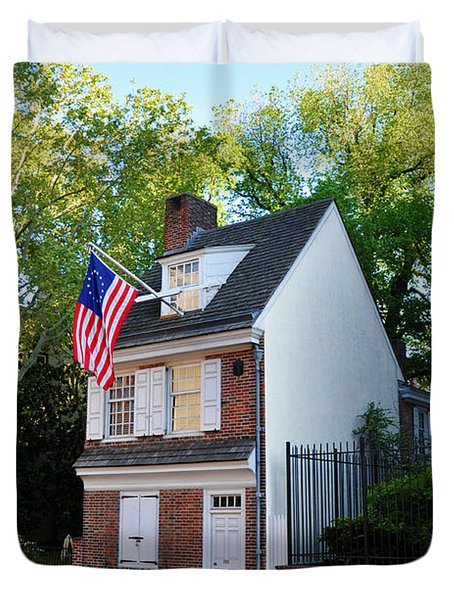 The Betsy Ross House Philadelphia Duvet Cover by Bill Cannon