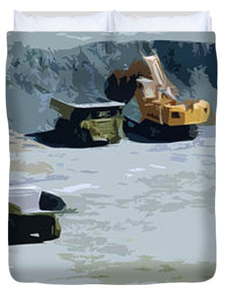 The Big Dig Duvet Cover by Phill Petrovic