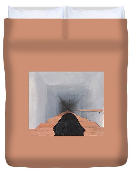 The Big Stairs Go Down Forever Duvet Cover