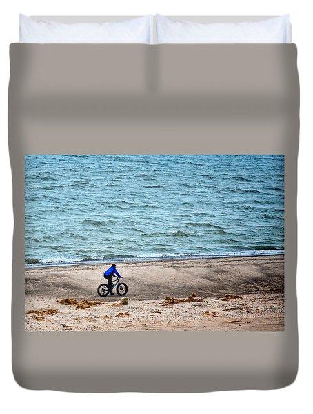 The Bike Ride Duvet Cover