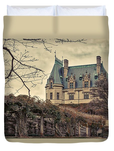 The Biltmore Mansion In The Fall Duvet Cover by Robert FERD Frank