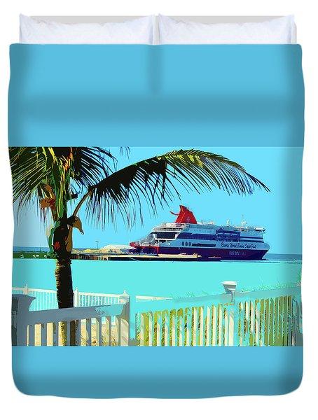 The Bimini Boat Duvet Cover