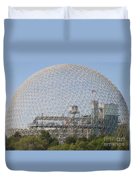 The Biosphere  Ile Sainte-helene Montreal Quebec Duvet Cover by Reb Frost
