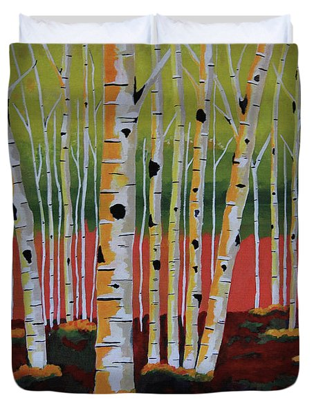 The Birch Forest Duvet Cover