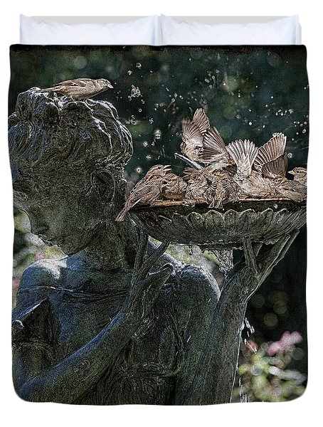 The Bird Bath Duvet Cover