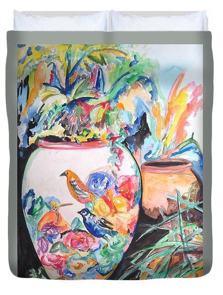 The Bird Flower Pot Duvet Cover