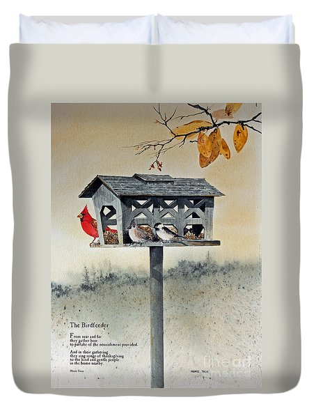 The Birdfeeder Duvet Cover