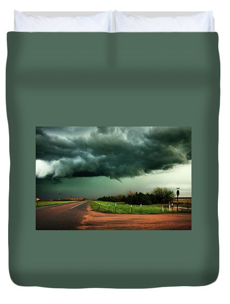 The Birth Of A Funnel Cloud Duvet Cover