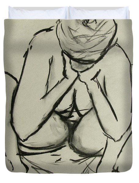 The Birth Of Art Duvet Cover by Peter Piatt