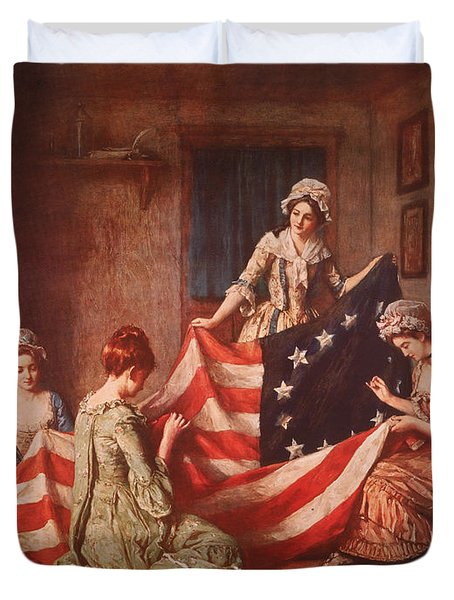 The Birth Of The Flag Duvet Cover