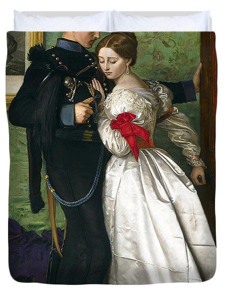 The Black Brunswicker Duvet Cover by Sir John Everett Millais