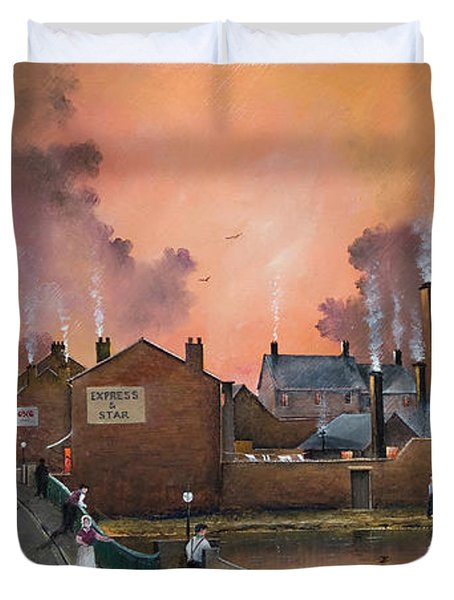 The Black Country Village Duvet Cover