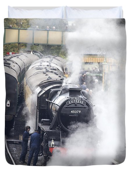 The Black Five Steam Locomotive 45379 Duvet Cover