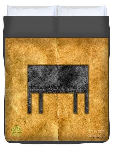 The Black Table Duvet Cover