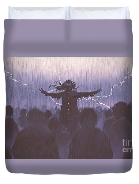 The Black Wizard Duvet Cover