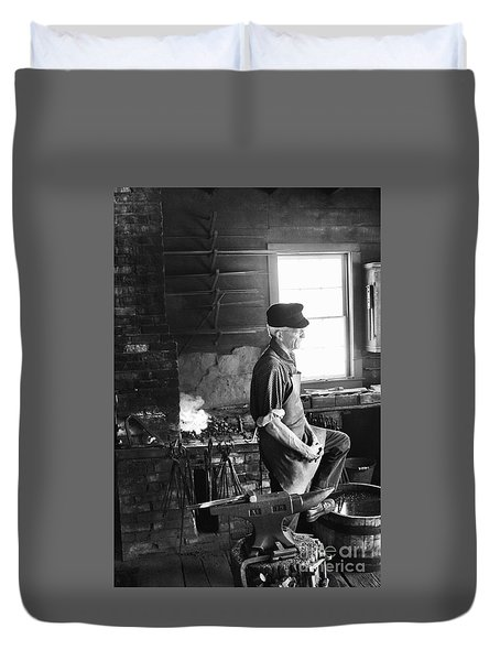 Duvet Cover featuring the photograph The Blacksmith  by Ricky L Jones