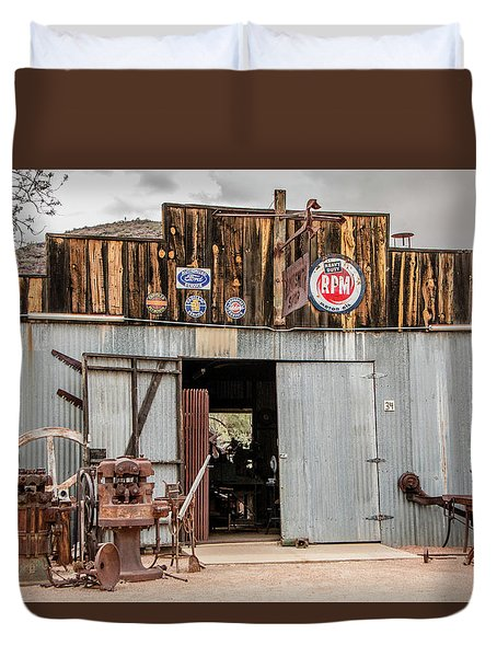 The Blacksmith Shop Duvet Cover