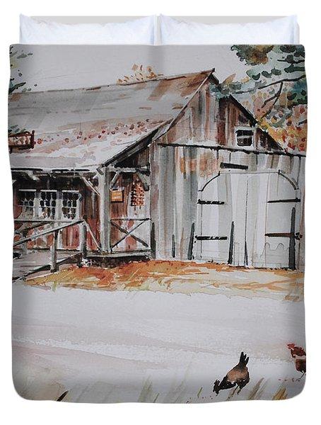 The Blacksmith Shoppe Duvet Cover