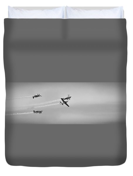 Duvet Cover featuring the photograph The Blades Aerial Gymnastics Sunderland Air Show 2014 by Scott Lyons