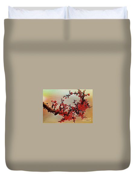 The Bloom Of Cherry Blossom Duvet Cover