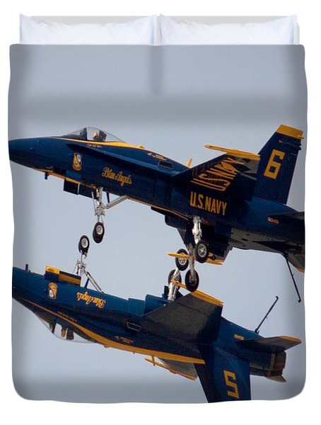 The Blue Angels Flying Over The Another Duvet Cover