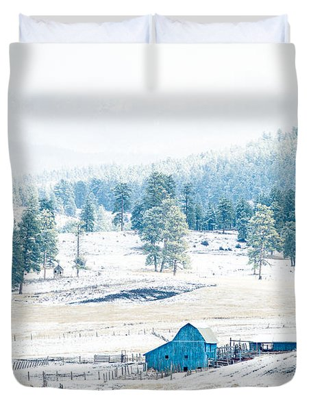 The Blue Barn Duvet Cover