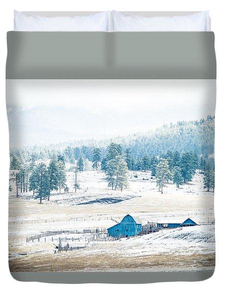 The Blue Barn Duvet Cover