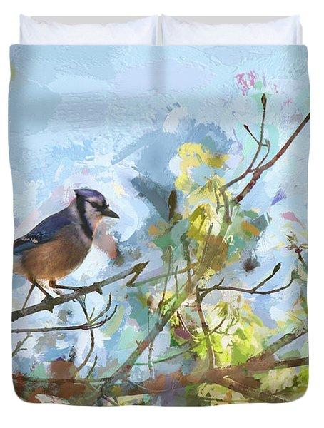 The Blue Bird Duvet Cover