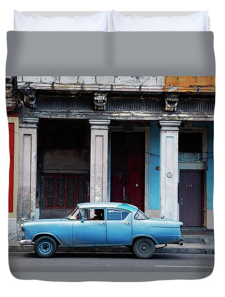 The Blue Car Duvet Cover