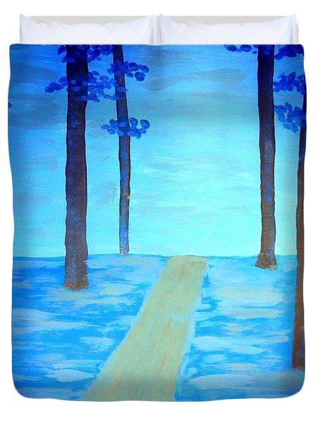 The Blue Forest Duvet Cover