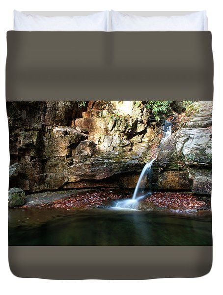 The Blue Hole In November #2 Duvet Cover by Jeff Severson
