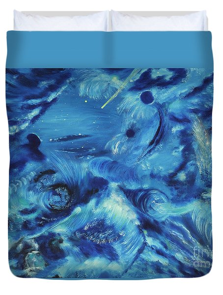 The Blue Hole Duvet Cover by Regina Wirsich Roberts