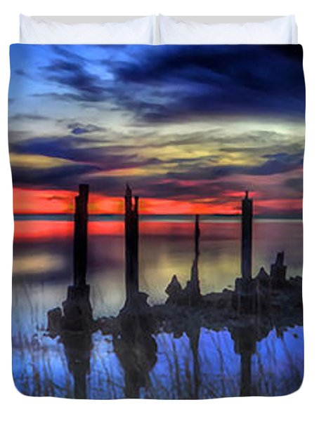 The Blue Hour Comes To St. Marks #2 Duvet Cover