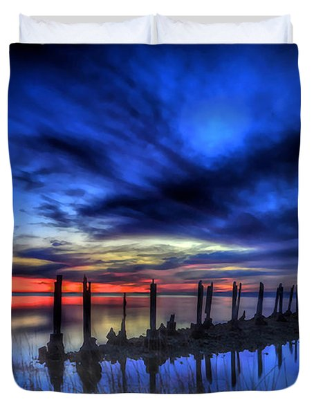The Blue Hour Comes To St. Marks #1 Duvet Cover