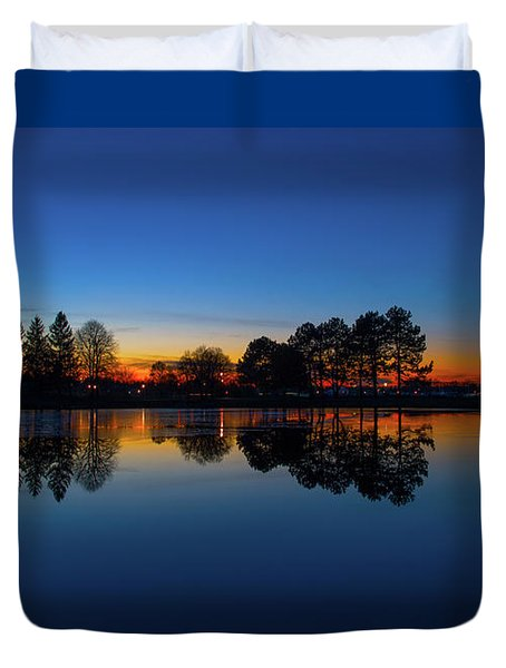 Duvet Cover featuring the photograph The Blue Hour.. by Nina Stavlund