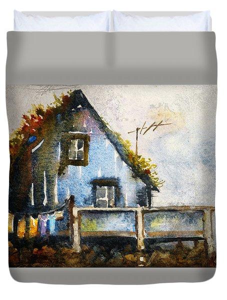The Blue House Duvet Cover