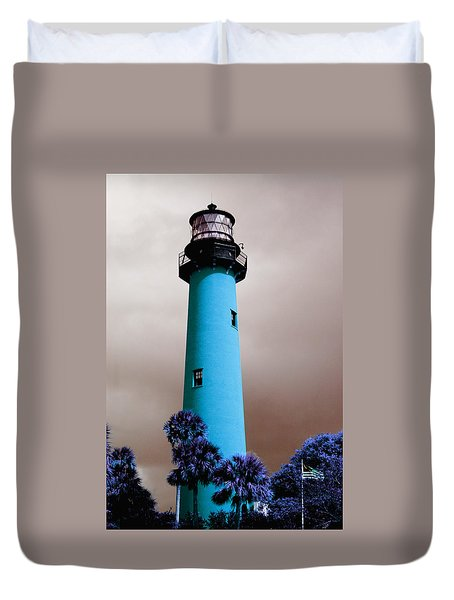 The Blue Lighthouse Duvet Cover