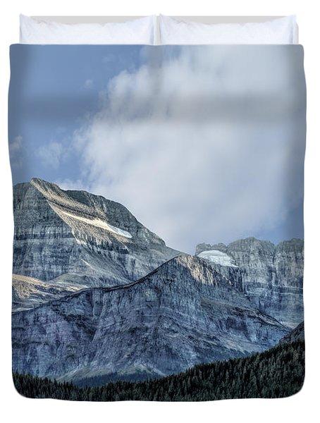 The Blue Mountains Of Glacier National Park Duvet Cover