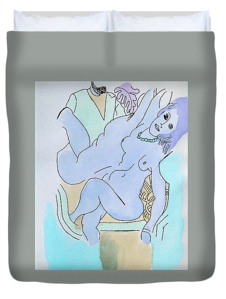The Blue Nude Duvet Cover