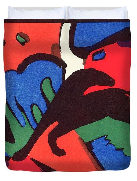 The Blue Rider Duvet Cover